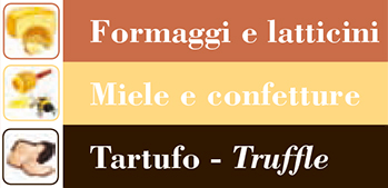 MAPPE Formaggi, Miele e Tartufo - MAPS Cheese & Dairy products, Honey & Jams, Truffle